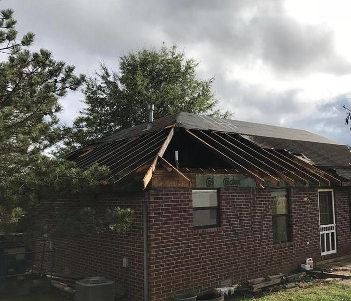 Fire Damaged Garage in Nixa, MO Before