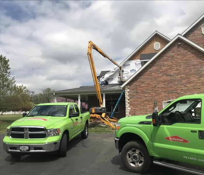Storm Damage When Storms Hit Nixa and Branson Area, SERVPRO is Ready!